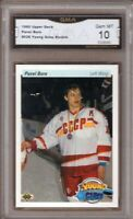 GMA 10 Gem Mint PAVEL BURE 1990/91 UD Upper Deck YOUNG GUNS ROOKIE Card HOF!