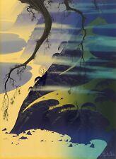 """Eyvind Earle """"Mystical Fog"""" 1987 screenprint Hand Signed Numbered"""