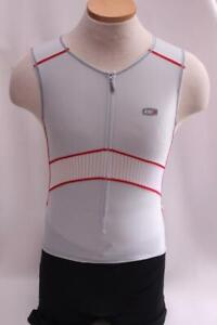 New Louis Garneau Men's Elite Jersey Cycling Bike Medium White Sleeveless Tri