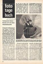 Zenza Bronica modello C Medio Formato Macchina Fotografica-relazione originale di 1966