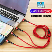 3in1 Type C Micro USB Fast Charger Cable For iPhone Huawei Samsung LG Xiaomi US