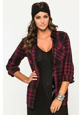 Metal Mulisha Schooled Out Flannel Ladies Size S