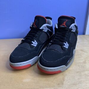 Nike Air Jordan 4 Bred 2019 'Black & Red' (GS) Size 7y 408452-060