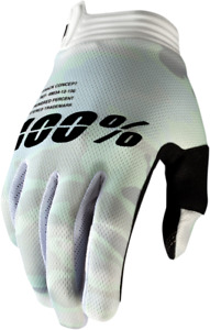 100% iTrack Gloves - White Camo / All Sizes