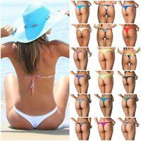 Coqueta Women's Sexy TEENY Mini Bikini Bottom BRAZILIAN THONG Swimwear BEACHWEAR
