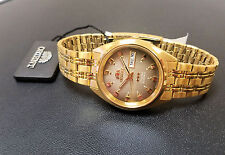 Orient Classic Dress Watch Automatic Gold Tone Root Beer Dial FREE US SHIPPING