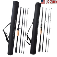 Fishing Rod Travel Casting Pole Hard Spinning Casting Pole Carbon Travel Bag  US