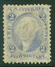 EDW1949SELL : USA 1872 Scott #R13e Ultramarine Very Fine, Used. Catalog $300.00.