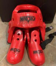 Macho Martial Arts Karate Red Sparring Gear Head And Feet, Youth Taekwondo