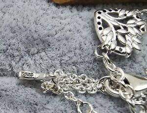"RARE! New GENUINE PANDORA  Adjustable Heart Family Tree Chain Bracelet 7.9 """