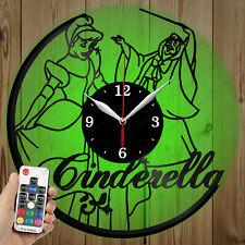 LED Vinyl Clock Cinderella LED Wall Art Decor Clock OriginalGift 2705