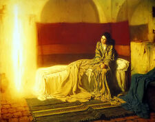 Oil painting Henry_Ossawa_Tanner The Annunciation Madonna with angel on canvas