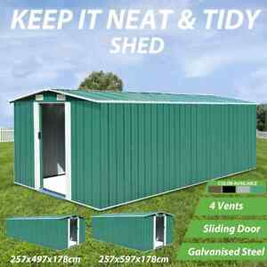 vidaXL Garden Shed Metal Tool Storage Workshop House Multi Sizes Multi Colours