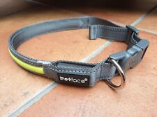 Petface dog collar flashing bright reflective medium to large dog 14-23 inches