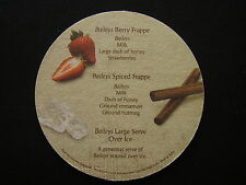 BAILEYS HARD TO RESIST BERRY FRAPPE SPICED FRAPPE LARGE SERVE OVER ICE COASTER
