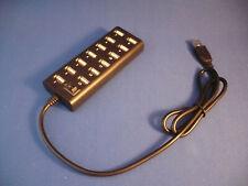 USB HUB mit 13 Ports 2.0 und einem Switch inkl. USB Anschlußkabel !!!