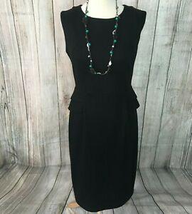 Fabulous Black Shift Dress Size 14 VGC