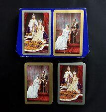 Vintage Playing Cards King George V 1935 Royal Wedding Coronation Twin Deck RARE