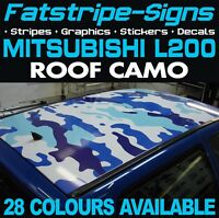 MITSUBISHI L200 CAMO GRAPHICS STRIPES DECALS STICKERS WARRIOR BARBARIAN TITAN