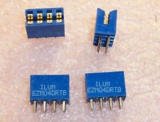 QTY (10) EZM04DRTB SULLINS 4 POSITION EDGE CARD CONNECTOR 3.96mm