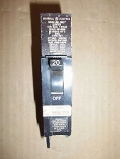 GE TEY TEY120 1 Pole 20 Amp 277 VAC SWD Circuit Breaker FLAWED