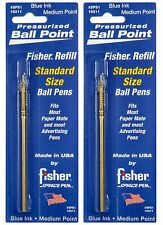 Two Paper Mate Style Pressurized Blue Ink Medium Point Cartridges By Fisher