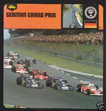GERMAN GRAND PRIX Car Racing Circuit HISTORY PHOTO CARD