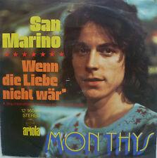 "7"" 1972 RARE ! MON THYS : San Marino // VG+ \"