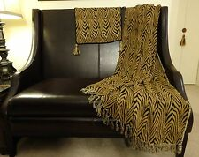 Luxury Zebra print woven Throw and one pillow cover.