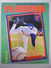 1993 FLORIDA GATOR BASEBALL GUIDE - NEAR MINT - PITCHER MARC VALDES ON COVER