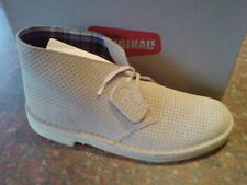 Clarks Originals Mens ** Desert Boots Beige Nubuck Lea **  UK 12.5 / true 12