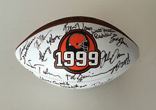 CLEVELAND BROWNS Signed Autographed Logo Football COA! JIM BROWN++
