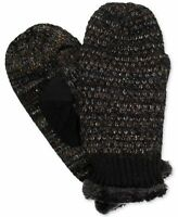 (NWT) Isotoner Signature Women's Chenille Marled Mitten Black ONE SIZE