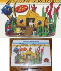 Kinder RARO DIORAMA Tedesco Set SPONGEBOB Yellow Submarine RARO Limitato 1200 !