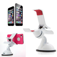 Universal Clip Car Windscreen Mount Stand Holder Cradle for Samsung iPhone White