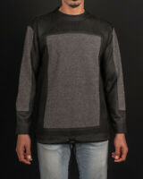Diesel Men's Black/Grey Patched Sweatshirt - Convenient Operation