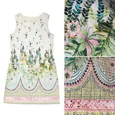 🌟Zara Girls White Floral Watercolour Sleeveless Cotton Summer Dress Age 7 122cm