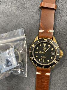 👍 TAG HEUER 1000 980.033 984.013 Brass Submariner Black Bay Bronze Style Watch