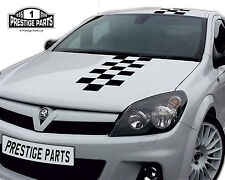 NURBURGRING STYLE CHEQUERED STRIPE DECAL KIT GENUINE 3M VINYL VAUXHALL ASTRA VXR
