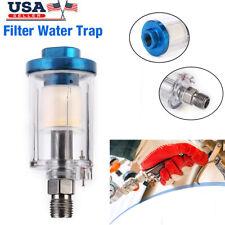 14 Spray Gun Air Line Mini Filter Water Trap Clear Painting Moisture Separator