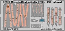 Eduard 1/32 scale Mosquito Mk. VI seatbelts STEEL for Tamiya - photoetch 32921