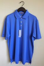 Peter Millar Blue SpeakinDeacon Embroider Logo E4 Per4mance Element Polo Size L