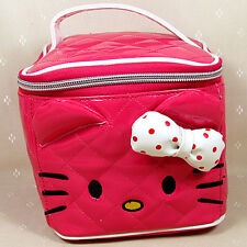 HelloKitty Hot Pink Cosmetic Makeup Bag Case 2017 New Lady Girl Women Small Size