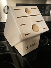 Cutco Whitewashed Oak Knife Block