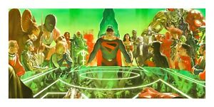 Alex Ross SIGNED Kingdom Come War Room Giclee on Canvas Limited Ed of 25 P Proof