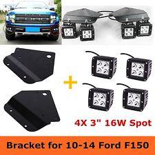 """For Ford F-150 SVT Raptor 4x16W LED Work Fog Light Lamp Bumper Mount Bracket 3"""""""