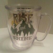 "Tervis Tumbler ""Rise and Shine"" Coffee Tea Cup Mug Sunrise Over Mountains"