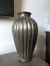 """Rare Collectible Large Robert Kuo Repousse Copper Metal Vase 17"""" Handmade $4,000"""
