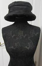 1ed9f8eda2e Saks Fifth Avenue Rain Bucket with Zip Pocket Detail Black Ladies Hat -  Italy
