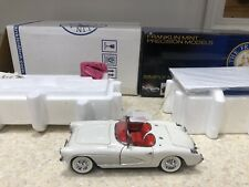 New ListingFranklin Mint 1:24 1956 Chevy Corvette Roadster Convertible Le In Box